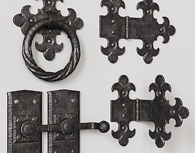 decoration 3D model Wrought iron door parts