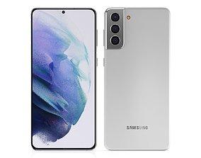 Samsung Galaxy S21 Plus Phantom White 3D