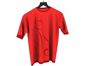 Red Crew Neck Shirt 3D model