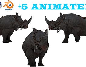 The Ultimate rhino - 3d rhinoceros model 3D model animated