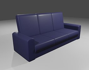 Couch 3 Seater - Settee - Sofa 3D model