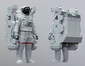 3D model EMU MMU SAFER SPACE SUIT spacesuit