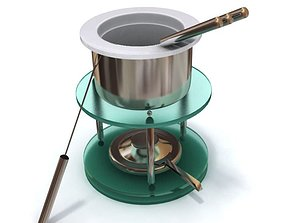 3D model Pot Fondue Skewers Stand