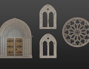 Medieval architecture elements collections 3D asset