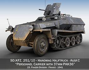 3D SDKFZ 251 10 - Ausf C - Hanomag Half-track - 23PD