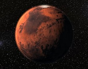 3D model realtime Mars planet