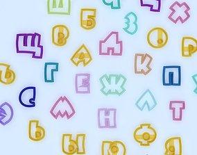 3D print model Cookie cutter - Alphabet Rus