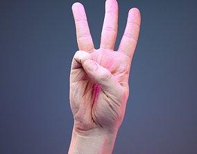 Finger Number 6 3D asset