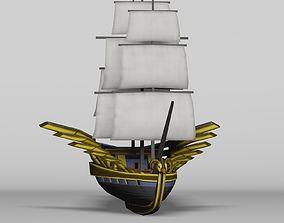 3D asset Sailing Ship Avian Head