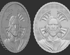Christian Jesus Medallion 3D printable model
