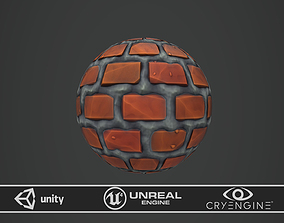 Stylized Sloppy Bricks 3D asset