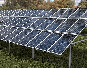 3x10 pv solar panel array 3D asset
