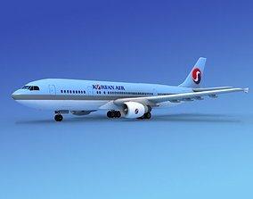 Airbus A300 Korean Air 3D model