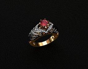 Rings 3D printable model diamond-ring