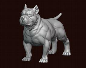3D printable model fighting American Bully
