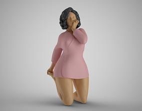 Shy Woman 2 3D print model