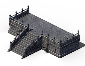 Building - Stairway Platform 01 3D model