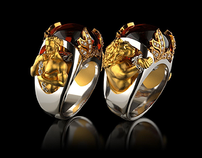 Ring Hercules and the Nemean lion 3D printable model