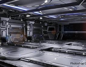 Sci-fi Scene for renders - The Last Star 3D