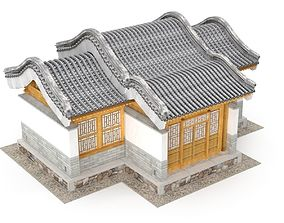 3D asset Chinese Architecture Distribution room 04