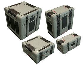 Sci Fi Box 3D asset