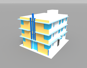 Voxel Miami Hotel 13 3D asset
