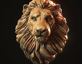 Lion Head Pendant 3d print model cat