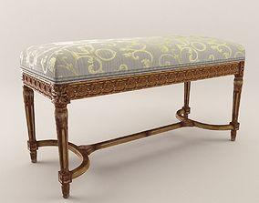 Neoclassical stool - Around 1880 3D