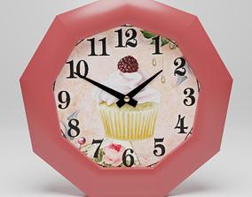 3D asset Wall clock Bon appetit