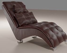 Comfortable leather chair 3D model