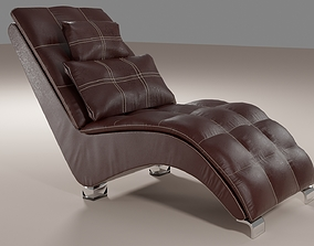 Comfortable leather chair 3D