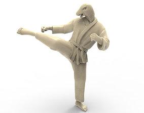 3D printable model Snake Roundhouse Kick