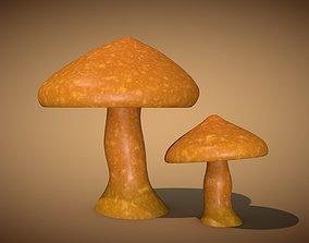 3D asset VR / AR ready Mushroom 1