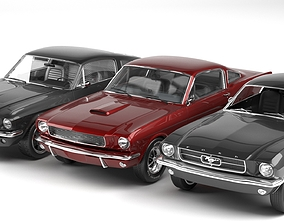 car collection ford mustang 1965 - 1967 3D model