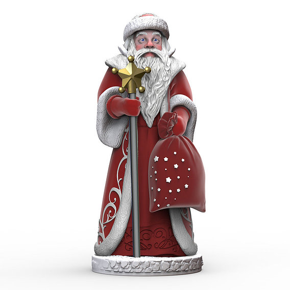 The statue of Santa Claus for the New Year 3D print model