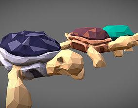 Low Poly Tortoises Pack 3D model