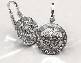 3D print model Snowflake earrings snowflake