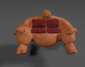 Fluffy Sofa 3D asset