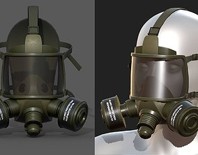 Gas mask helmet 3d model military VR / AR ready