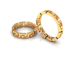 3D printable model ring versace
