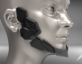 Cyborg Jaw Armor Wearable 3D print model
