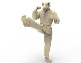 Dog Front kick 3D print model