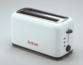 Toaster baked-good 3D