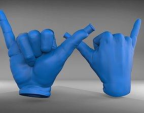 Shaka sign hookah mouthpiece 3D print model