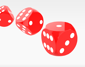 3D model Red Dices