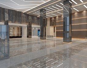 Office Building Lobby - Elevator Hall 3D model