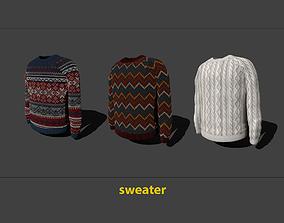 3D asset VR / AR ready sweater