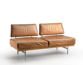 3D Reclaimed Mid Century Leather Sofa