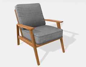interior 3D model Vintage armchair