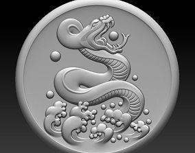 3D sculpture snake